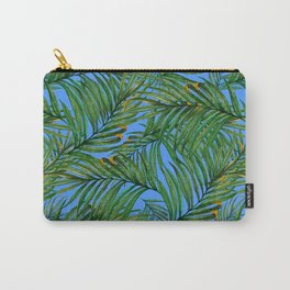 Palm leaves against the sky Carry-All Pouch