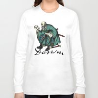 darwin Long Sleeve T-shirts featuring Samurai Charles Darwin by QStar