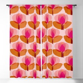Abstraction_FLORAL_01 Blackout Curtain
