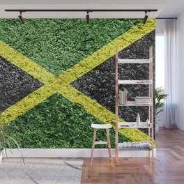 Jamaica Flag Distressed Wall Mural