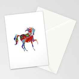 Horse Colorful Silhouette Stationery Cards