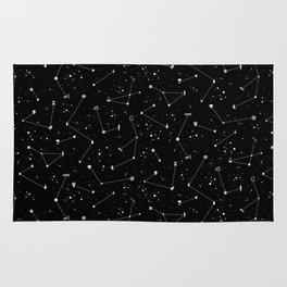 Constellations (Black) Rug