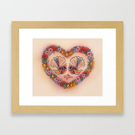 Sweetheart Fantails Framed Art Print
