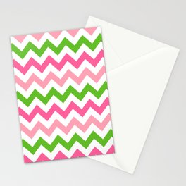Sweet Summer Melon Chevron  Stationery Cards