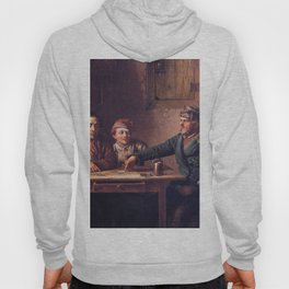 The Card Players 1853 By Eastman Johnson   Reproduction Hoody