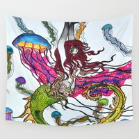 siren Wall Tapestries featuring Siren by Labartwurx