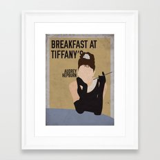 Breakfast At Tiffany's staring Audrey Hepburn Framed Art Print