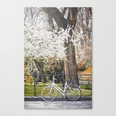 The bike and the spring. Canvas Print