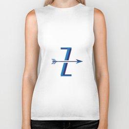 "Vintage Inspired Letter  ""Z"" Biker Tank"