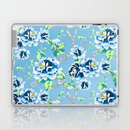 Chinoiserie Ming style Blue Floral Pattern Laptop & iPad Skin