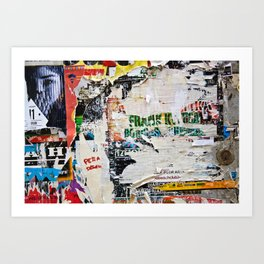 Urban collage Art Print