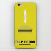 pulp fiction iPhone & iPod Skins featuring PULP FICTION  by Kiwi Punk