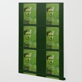 Frida Kahlo - between worlds - green Wallpaper