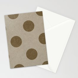 Varnish Pattern Kraft (Big Polka Dots) Stationery Cards