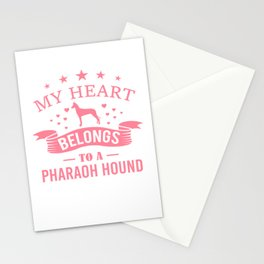 My Heart Belongs To A Pharaoh Hound pw Stationery Cards
