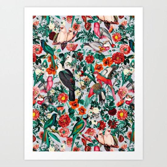 FLORAL AND BIRDS XIV by burcukorkmazyurek
