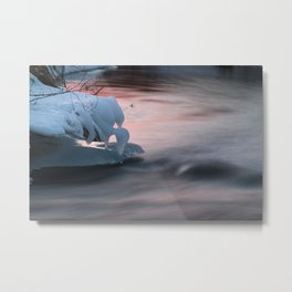 The Hanging Ice on the Stream Metal Print