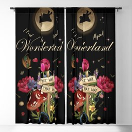 I Found Myself In Wonderland - Alice In Wonderland Blackout Curtain