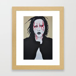 "Manson- ""Coma Black"" Framed Art Print"