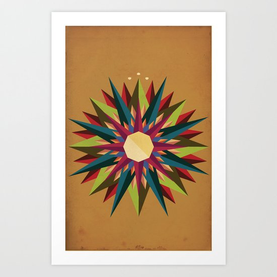 Half Circle Stars Art Print