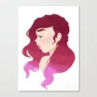 burgundy Canvas Prints featuring Burgundy by Tori Dubis