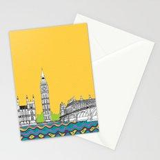 London Town Pop Art with spotty sky Stationery Cards