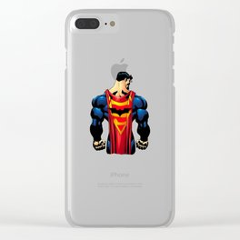 Superman and The Bat Clear iPhone Case