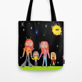 Space Hippie Girls | Kids Painting Tote Bag