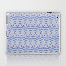 Art Deco Diamond Teardrop - Blue Laptop & iPad Skin