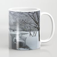 pittsburgh Mugs featuring PITTSBURGH PARK by Stephanie Bosworth