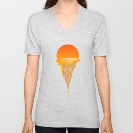 Famous Sunset Flavored Ice Cream Unisex V-Neck
