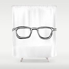 Four Eyes - B/W Shower Curtain