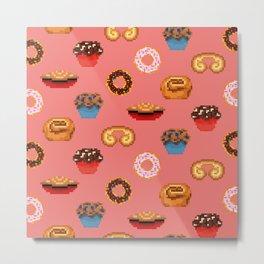 Pixel Pastries! Metal Print