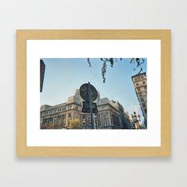 Carrer Framed Art Print
