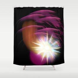 Meteor Burst Shower Curtain