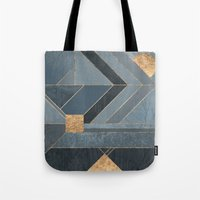 nordic Tote Bags featuring Nordic Blue by Elisabeth Fredriksson