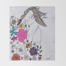 run away, spirit Throw Blanket