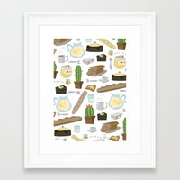 bread Framed Art Prints featuring Bread by Ceren Aksu Dikenci