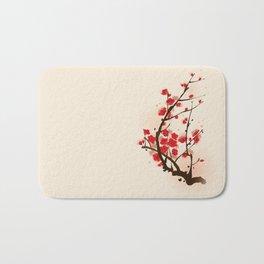 Oriental plum blossom in spring 012 Bath Mat