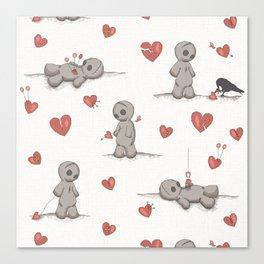 Broken hearted Voodoo Dolls Canvas Print