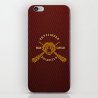 quidditch iPhone & iPod Skins featuring Gryffindor quidditch team iPhone 4 4s 5 5c, ipod, ipad, pillow case, tshirt and mugs by Three Second