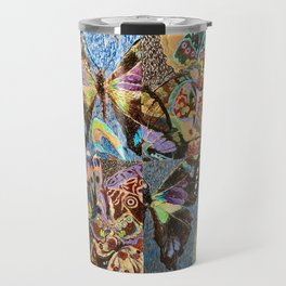 patterned butterflies Travel Mug