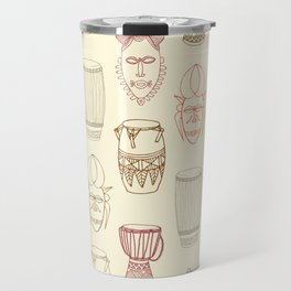 African drums and masks Travel Mug