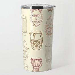 African drums and masks Travel Mug