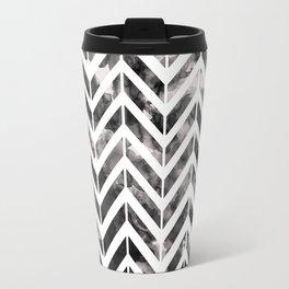 Brush Chevron Travel Mug