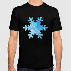 Peaceful Winter Day MEDIUM Black Mens Fitted Tee
