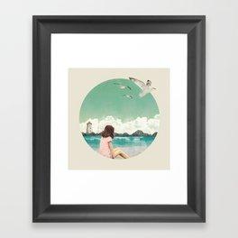 Calm ocean Framed Art Print