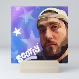 Scotty in the Stars Mini Art Print