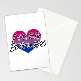 I Swing Both Ways - Bi Pride Design Stationery Cards