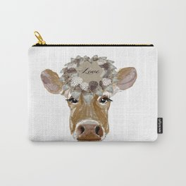 Cow with Love Hat Carry-All Pouch